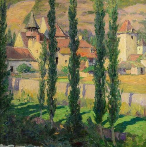 Léon Pierre FÉLIX (1869 1940) The village, 1932 Oil on canvas, signed lower left…