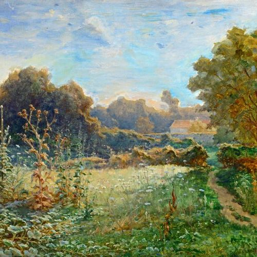 Alexandre NOZAL (1852 1929) Attribué à Country landscape Oil on canvas, signed l…