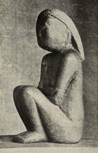 Constantin BRANCUSI (1876 1957) Wisdom (Stone), 1908 Silver print (c. 1920). Han…