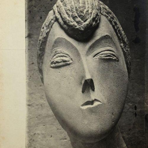 Constantin BRANCUSI (1876 1957) The Baroness RF (Stone), 1910 Silver print (c. 1…