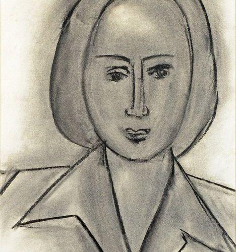 Henri MATISSE (1869 1954) Monette Vincent, 1942 Dessin au fusain et à l'estompe,…