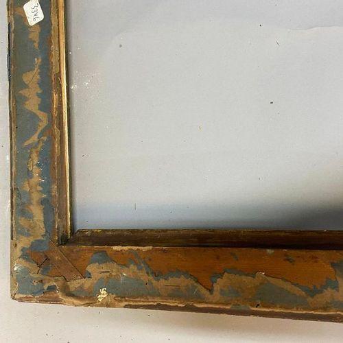 A Louis XVI style baguette, gilt and rechampi  72.5 x 59.5 x 7 cm  (accidents, m…