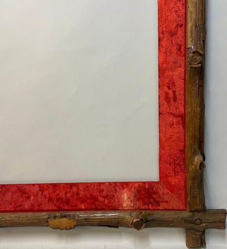 A carved wooden frame with unhooked corners, 19th century  49.5 x 67 x 10 cm  (A…