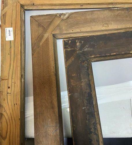 "Three ""pitchpin"" frames, 19th century 69,5 x 48 x 6,5 cm 55 x 71 x 7,5 cm 52 x 7…"