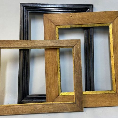 Three moulded wooden frames, one of which is blackened.  51.5 x 35.5 x 5.5 cm  3…