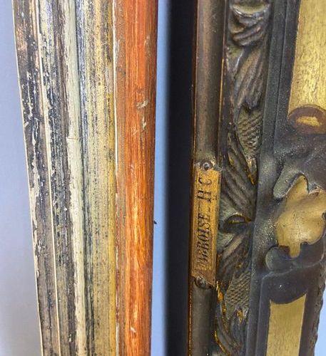 Set of three gold and silver frames and chopsticks, circa 1900  47 x 63 x 6 cm  …