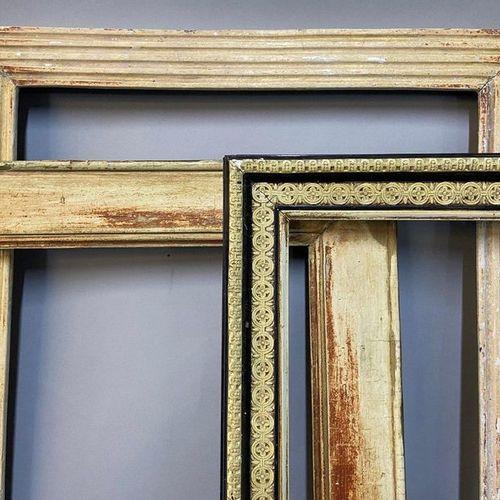Set of three frames, early 19th century  51 x 42.5 x 6 cm  45 x 37 x 8 cm  42 x …