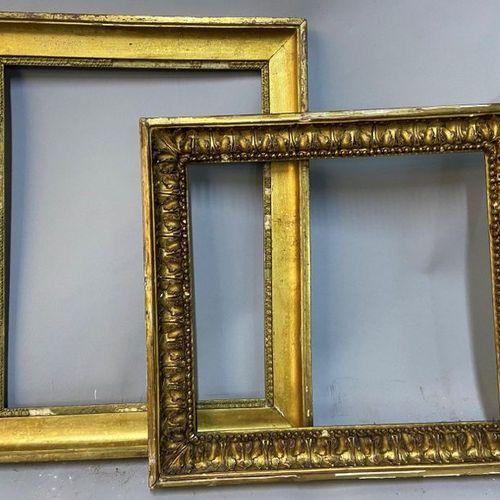 Two frames, 19th century  30 x 40 x 5 cm  34 x 30.5 x 5 cm  (Sold as is)