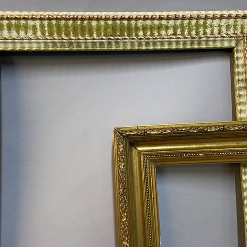 Two stylish frames  60 x 42 x 7 cm  52 x 41 x 7 cm  (Sold as is)