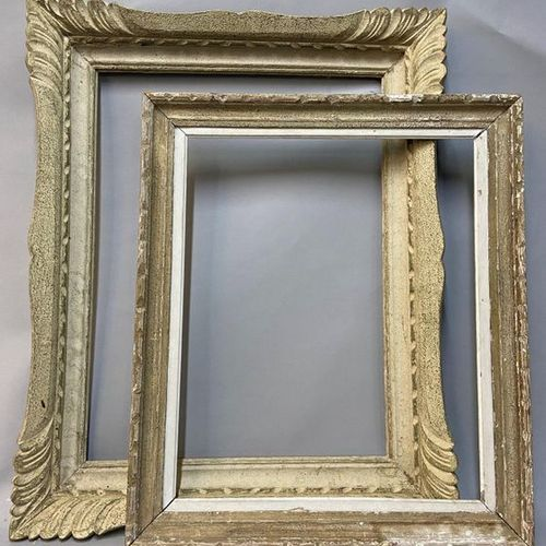 """Two frames in lacquered wood called """"Montparnasse"""", 20th century.  47.5 x 62.5 x…"""