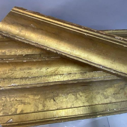 4 lengths of hollow profile frames, early 19th century  76 x 56 x 17 cm  (Sold a…
