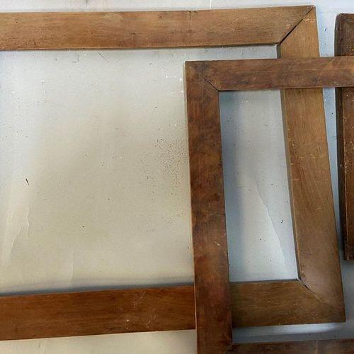 Set of three flat profile wood and veneer chopsticks  36 x 28 x 4.5 cm  28 x 28 …