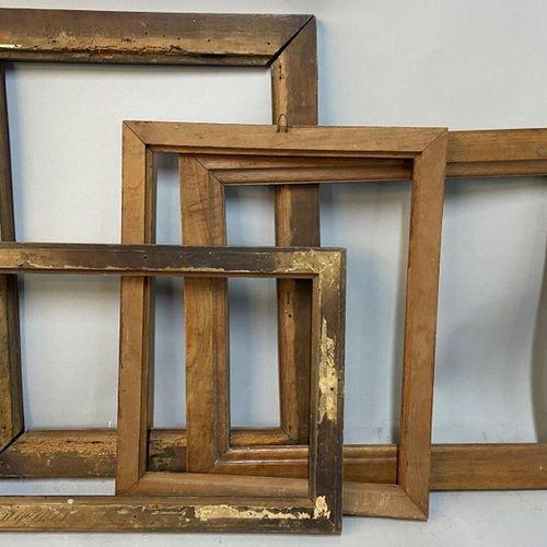Set of 4 moulded natural wood chopsticks, 19th C.  37 x 26.5 x 4.5 cm  33 x 27 x…
