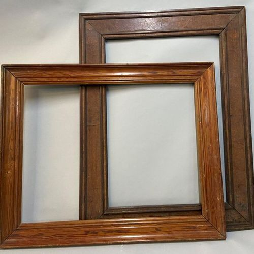 Pitchpin frame and a veneer frame, 19th century  44 x 63 x 10 cm  48 x 63.5 x 7.…