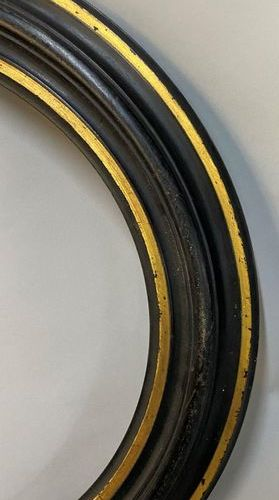 """Frame called """"tondo"""" in blackened wood  Diam : 34 x 7 cm  It comes with a small …"""