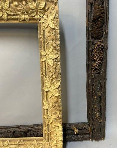 A Black Forest frame and a frame with a naturalist motif, late 19th century  48 …