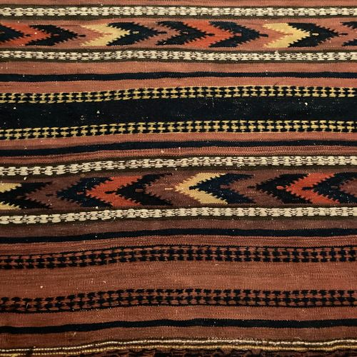 Carpet Kilim brown background (104 x 219)  Small Kilim red background with geome…