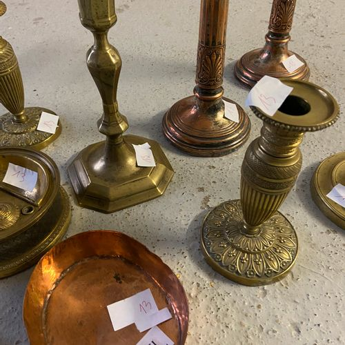 Metal and copperware set including 2 pairs of torches and 2 other pairs of torch…
