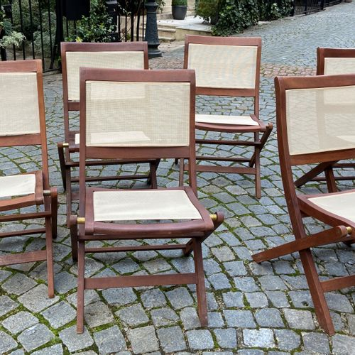 Six garden chairs  Modern  84 x 53 x 40 cm  (sold as is)  (FURNITURE STORAGE SAI…