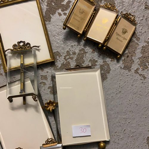 Set of small metal frames in various sizes  (sold as is)