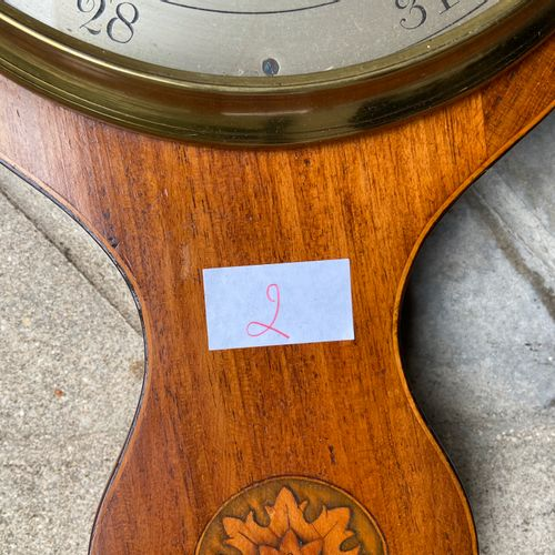 English Barometer  late 19th, early 20th century  H: 98 cm  (sold as is)