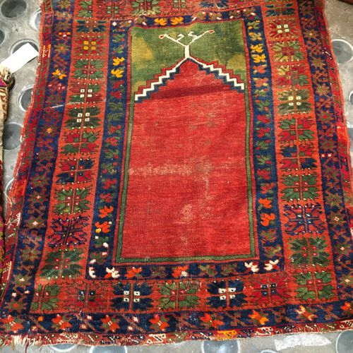Two small carpets  134 x 93 cm  110 x 96 cm Sold as is