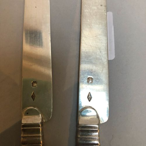 10 fruit knives, Minerva silver blade  Gross weight: 248.8g