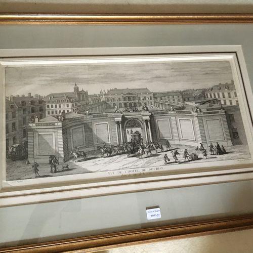 Trois gravure dont Hotel de Soubise