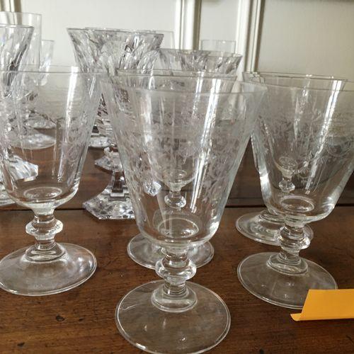 Lot de verre (Cristal de Sèvres)  Vendu en l'état