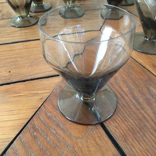 Lot de verre  Accidents  Verre : le plus haut 10 cm  Caraffe 20 cm  Diamètre pla…