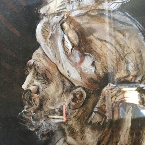 Un encadré portrait d'homme au turban