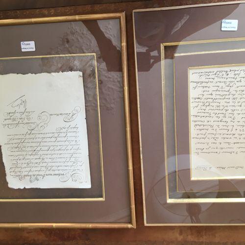 Deux encadrés Lettres