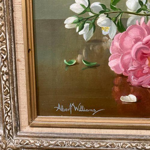 Albert Williams (né en 1922)  Huile sur toile dans un cadre en bois doré, Nature…