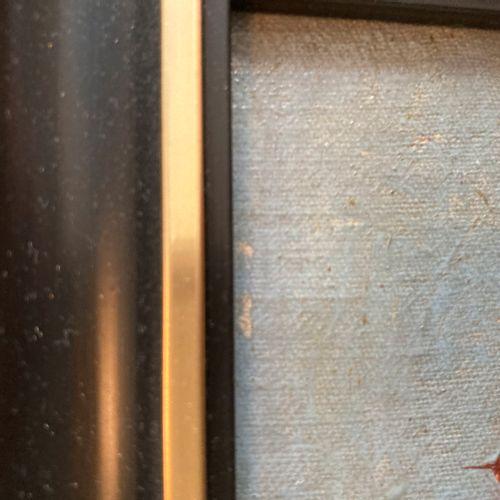 Vue de village, huile sur toile contrecollée sur carton (petit manque)  12 x 14 …