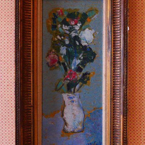 ALEXANDRE ORLOFF (1899 1979)  Vase de fleurs  Huile sur panneau, signée en bas à…