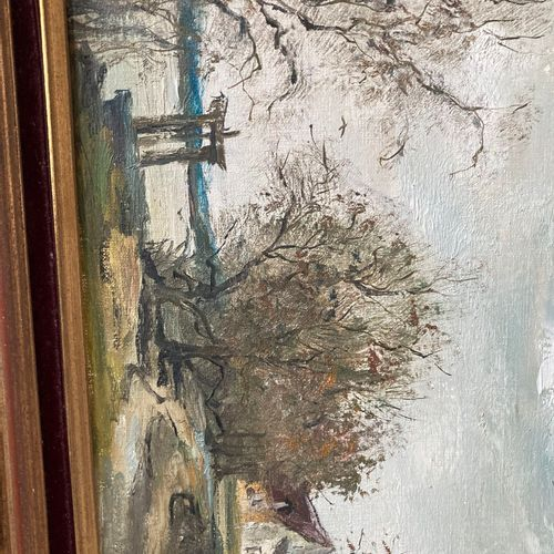 JEAN DUPUIS (XXEME SIECLE)  La butte aux cerfs  Huile sur toile signée Jean Dupu…