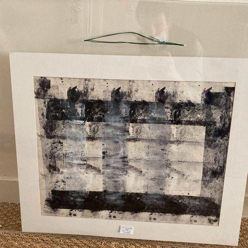 Jacques Faugeroux, né en 1950  Deux compositions en noir et blanc (acrylique)  3…