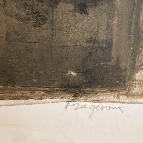 Jacques Faugeroux, né en 1950  Composition  Peinture sur papier signé en bas à d…