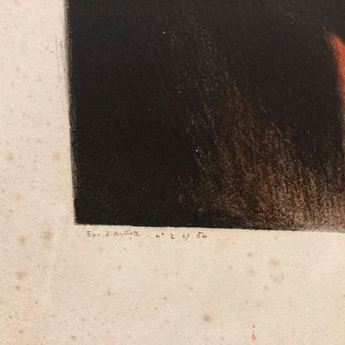 André DEVAMBEZ Le vestiaire Epreuve d'artiste signé 2/50 (tâches et déchirures) …