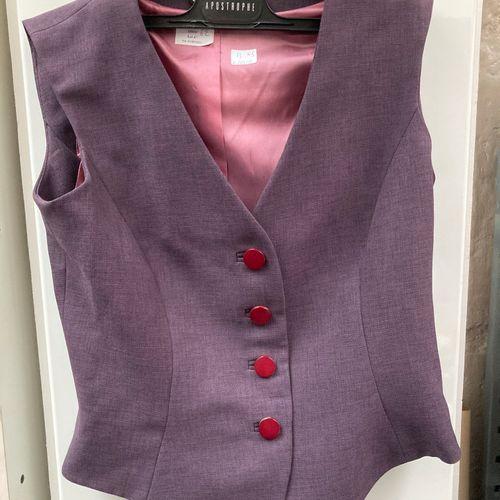 Apostrophe taille 38, Robe plissée gris clair  Y de G Paris jupe et veste violet…