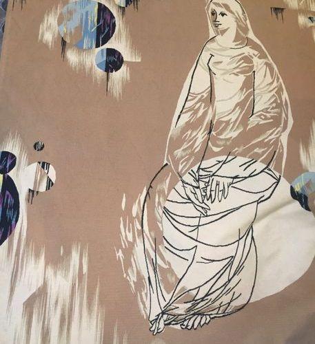 «Vespérale», tapisserie de lisse, René Julien (1937 2016), années 60, Manufactur…