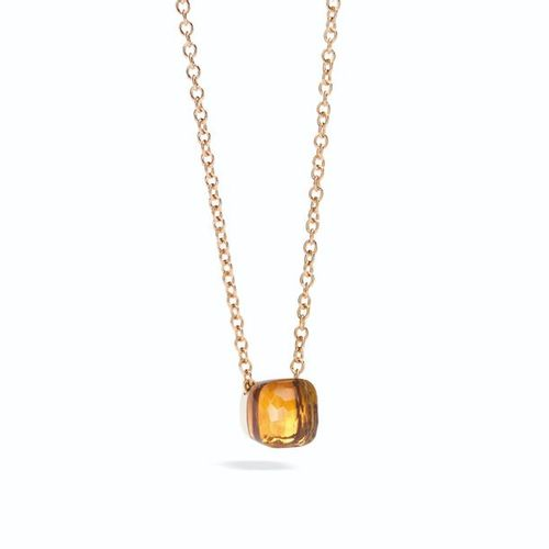 Pendentif Pomellato Nudo Pendentif avec quartz et chaîne en or rose Pomellato Le…