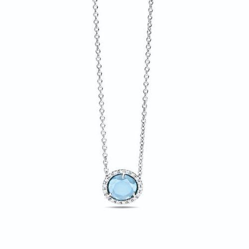 Pendant Pomellato Colpo di Fulmine Pendant in blue topaz and diamonds (0.09 ct) …