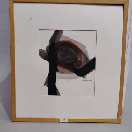 ZEIDAN Salwa (XX XXI)  Abstraction  Encre sur carton  Signée en bas à droite, co…