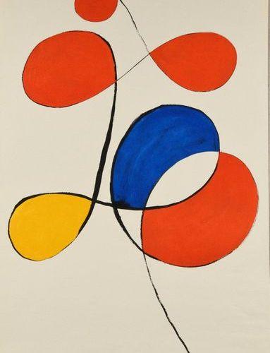 Alexandre Calder Untitled, 1973, lithograph, sheet 67 x 42.5 cm, nice colour pro…