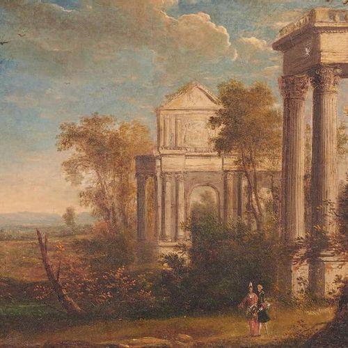ÉCOLE FRANÇAISE de la fin du XVIIe ou du début du XVIIIe siècle Landscape with a…