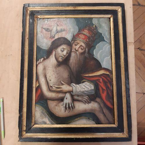 ÉCOLE FLAMANDE de la fin du XVe ou du début du XVIe siècle Christ died in the ar…