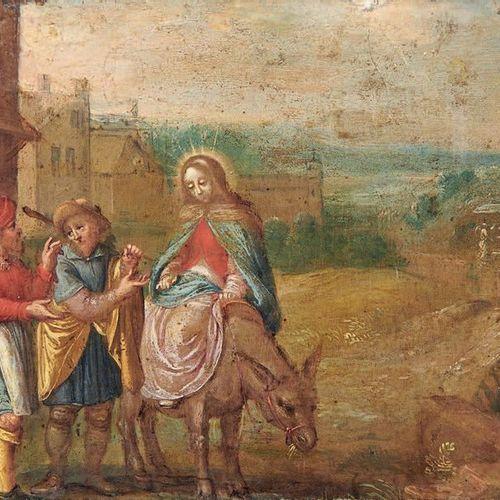 Ecole Flamande du XVIIIe siècle The Virgin, St. Joseph and the Innkeeper Oil on …