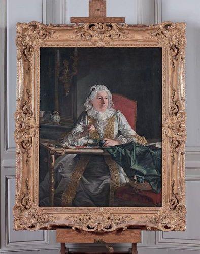 Atelier de Jacques André Joseph AVED (1702 1766) Portrait of Madame Crozat, Marq…