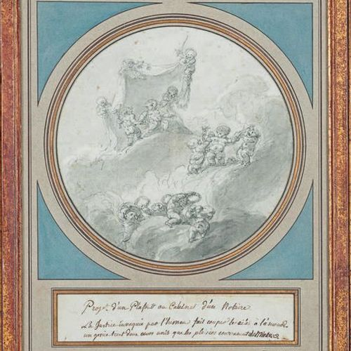 """École FRANÇAISE de la seconde moitié du XVIIIe siècle Ceiling project: """"Ceiling …"""
